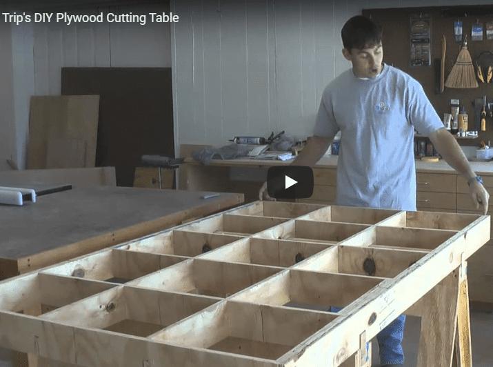 DIY plywood cutting table