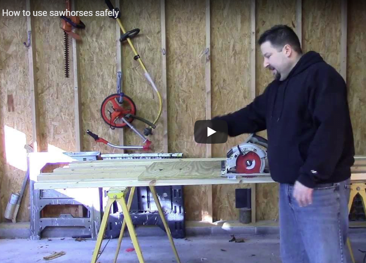 how to use saw horses safely