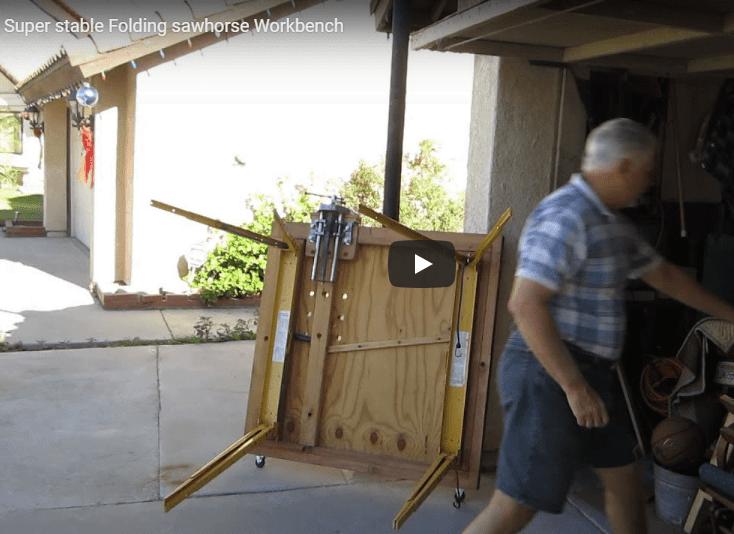 super stable folding sawhorse workbench