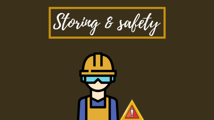 Storing and safety when working with your palm sander