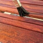 painting over stained wood without sanding