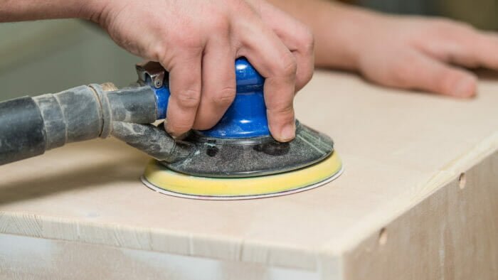 sanding your cabinets